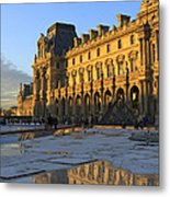 Richelieu Wing Of The Louvre Museum In Paris Metal Print