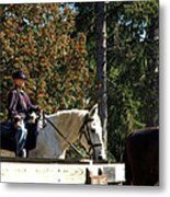 Riding Soldiers Metal Print