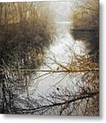 River In The Fog Metal Print