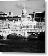 River Liffey Dublin City Center Metal Print by Joe Fox