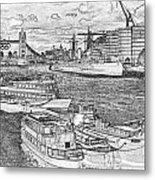 River Thames Art Metal Print