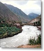 River Urubamba Through The Sacred Valley Of The Incas Metal Print by Ronald Osborne