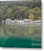 River With Trees Metal Print