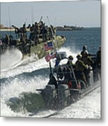 Riverine Command Boats And Security Metal Print