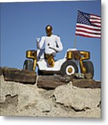 Robonaut 2 Poses Atop Its New Wheeled Metal Print by Stocktrek Images