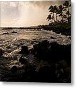Rocky Coastline, Poipu, Kauai, Hawaii Metal Print