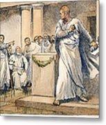 Roman Senate: Catiline Metal Print