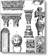Romanesque Ornament Metal Print
