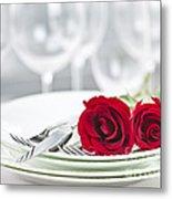 Romantic Dinner Setting Metal Print