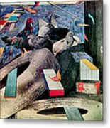 Roosters Cry 1980 Metal Print