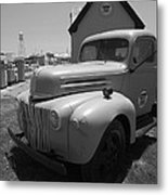 Route 66 Truck And Gas Station Metal Print