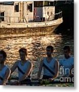 Rowers At Sunset Metal Print