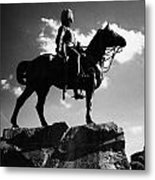Royal Scots Greys Boer War Monument In Princes Street Gardens Edinburgh Scotland Uk United Kingdom Metal Print