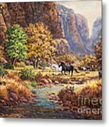 Running With The Wind Metal Print by W  Scott Fenton
