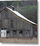 Rustic Weathered Mountainside Cupola Barn Metal Print
