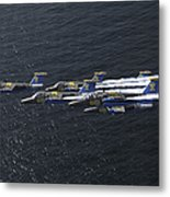Saab 105 Jet Trainers Of The Swedish Metal Print