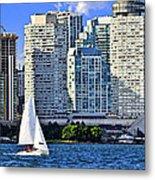 Sailing In Toronto Harbor Metal Print by Elena Elisseeva