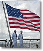 Sailors Stand At Parade Rest Metal Print