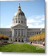 San Francisco City Hall - Beaux Arts At Its Best Metal Print