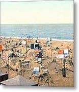 Sand Castles, C1895 Metal Print