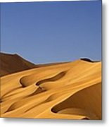 Sand Dune Against Clear Sky Metal Print