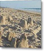 Sand Play Metal Print