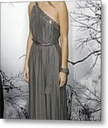 Sandra Bullock Wearing A Lanvin Dress Metal Print by Everett
