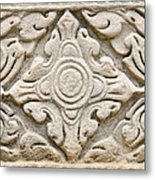 Sandstone Carving  Metal Print by Kanoksak Detboon