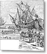 Santa Maria: Wreck, 1492 Metal Print by Granger