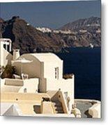Santorini View Metal Print