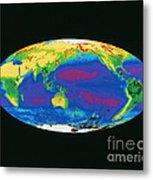 Satellite Image Of The Earths Biosphere Metal Print