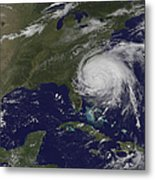 Satellite View Of Hurricane Irene Metal Print