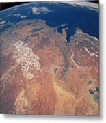 Satellite View Of Planet Earth Metal Print