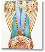Scroll Angels - Lillium Metal Print by Amy S Turner