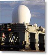 Sea Based X-band Radar Dome Modeled Metal Print