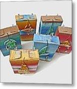Sea Boxes Metal Print