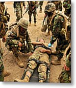Seabees Conduct A Mass Casualty Drill Metal Print