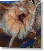 Seated Dancer Metal Print by Edgar Degas