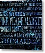 Seattle Icons Metal Print