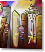 Seattle Metal Print by Melisa Meyers