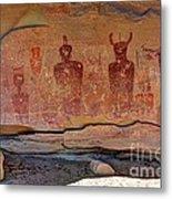 Sego Canyon Indian Petroglyphs And Pictographs Metal Print