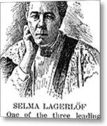 Selma Lagerlof (1858-1940) Metal Print