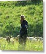 Shepherd Metal Print by Odon Czintos