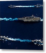 Ships From The John C. Stennis Carrier Metal Print