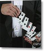 Shuffling Cards Metal Print