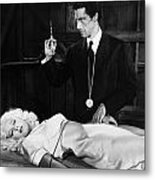 Silent Film Still: Doctor Metal Print