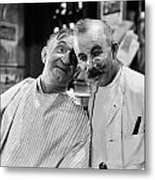 Silent Still: Barber Shop Metal Print