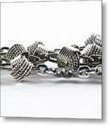 Silver Jewel Chain Metal Print by Blink Images
