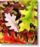 Simple Background From Autumn Leaves Metal Print