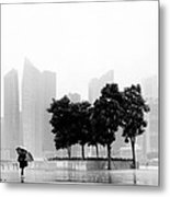 Singapore Umbrella Metal Print by Nina Papiorek
